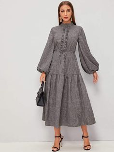 Lovely Dresses, Modest Dresses, Stylish Dresses, Simple Dresses, Casual Dresses, Modest Outfits, Hijab Fashion Summer, Muslim Fashion, Dress Outfits