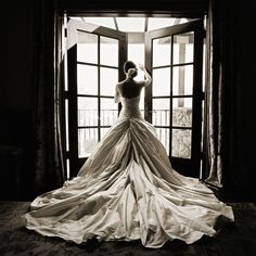 Backlit Bride, a great way to get a dramatic shot of the train. Such a beautiful shot!!