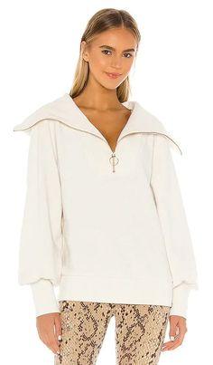 Vine Sweatshirt Varley BEST SELLER Chic Outfits, Summer Outfits, Fashion Outfits, Mens Fashion, Fashion Tips, Sweater Dress Outfit, Half Zip Sweaters, Revolve Clothing, Designing Women