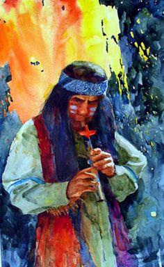 native american art | fallen branch flute art 7