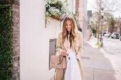 Gal Meets Glam Cuyana Spring -Cuyana trench c/o, Cuyana top, Piamita skirt & Cuyana bag c/o