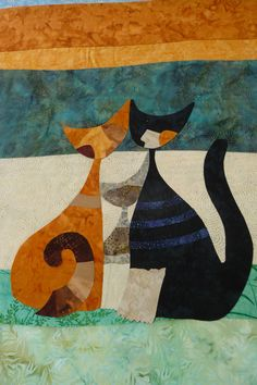 Quilt design by Rosina Wachtmeister, photo from at class at Patchworkstatt (Switzerland)