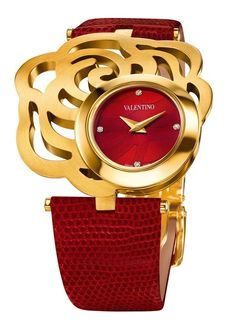 Valentino red and gold watch Valentino Watches, Valentino Red, Ring Armband, By Any Means Necessary, Beautiful Watches, Nice Watches, Women's Watches, Luxury Watches, Fashion Watches