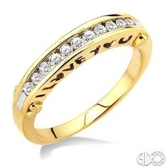 1/4 Ctw Round Cut Channel Set Diamond Band in 10K Yellow Gold