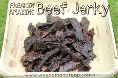 I'm not a fan of liquid smoke, but this looks pretty good!  Go easy on the smoke. ~Lorrie  Freakin' Amazing Beef Jerky