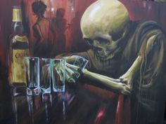 Would love a painting like this for hubby mancave badass. http://www.skin-artists.com/carlos-torres.htm