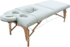 pregnancy massage table. We have a cute out table like this available at elements!! Cut out for your comfort, no more being massaged on your side :)