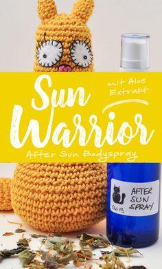 »Sun Warrior« After Sun Bodyspray   Schwatz Katz After Sun, Crochet Hats, Beauty, Peppermint, Organic Beauty, Summer, Knitting Hats, Beauty Illustration
