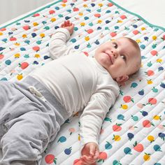 This quilted blanket is perfect to have on the floor, put in the pram or take on a picnic. It's mostly filled with soft recycled polyester, which is enclosed in a fabric of sustainably grown cotton. Cot Blankets, Cot Mattress, Nursery Furniture Sets, Ikea Family, Recycling, Little Ones, Cool Things To Buy, Barn, Kids Rugs