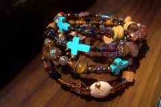 Jewelry Bracelet Stacked Bangle Bracelet by oldredmaredesigns, $44.00