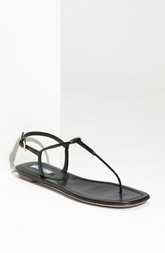 Prada T-Strap Thong Sandal available at #Nordstrom adding to my summer list