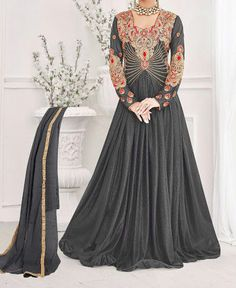 Designer Gown Stylish Party Wear Replica Gown Dress Drape Floor Length Indian