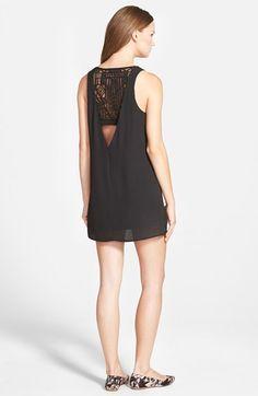 jella c. Lace Back Shift Dress poly/nylon black szS 32L 48.00
