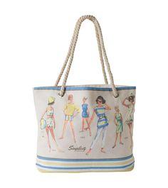 Simplicity Vintage Beach Bag by C. Diaper Bag, Beach, Gifts, Travel, Vintage, Fashion, Presents, Voyage, Trips