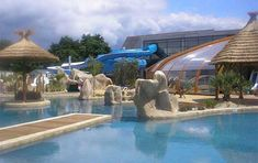 camping avec piscine Bretagne Outdoor Decor, Covered Pool, Brittany, Kiddy Pool, Playground Slide
