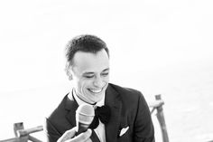 Laughter at the wedding reception