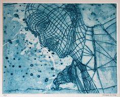 "Saatchi Online Artist Eduardo Bessa Rodrigues; Printmaking, ""Cyberdelia"" #art"