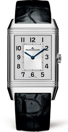 @jlcwatches Reverso Classic Medium Thin #add-content #bezel-fixed #bracelet-strap-leather #brand-jaeger-lecoultre #case-material-steel #case-width-40-1-x-24-4mm #delivery-timescale-1-2-weeks #dial-colour-silver #gender-ladies #luxury #movement-manual #of