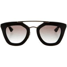 Pre-owned Prada Cin?ma Cat-Eye Sunglasses ($195) ❤ liked on Polyvore featuring accessories, eyewear, sunglasses, black, acetate glasses, cat-eye glasses, black gradient sunglasses, lens glasses and prada sunglasses