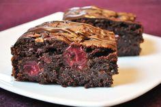 Kirsch-Brownies mit Schokochips (vegan)