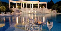 The French Village Pool at Beaches Turks and Caicos...who can't see themselves getting married here?! | Beaches Resorts Weddings