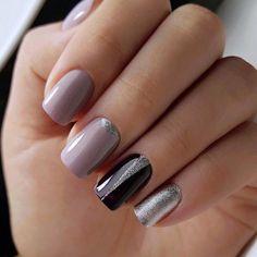 and Beautiful Nail Art Designs Diy Nails, Cute Nails, Pretty Nails, Colorful Nail Designs, Cool Nail Designs, Manicure E Pedicure, Nagel Gel, Beautiful Nail Art, Winter Nails