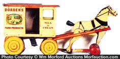 Antique Advertising | Borden's Horse Drawn Wagon Toy • Antique Advertising