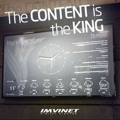 The CONTENT is the KING we always say it and we keep ratifying it! ... For this reason our Design team is available so our customers can have a high impact and functional Digital Signage circuit.  We know how to make a Digital Signage circuit successful if you want to know more contact us via e-mail at info@imvinet.com or visit our website www.imvinet.com #digitalboards  #digital  #digitalsignage  #menuboards  #informations  #tecnology    #digitalboards  #informacion  #comunicacion…