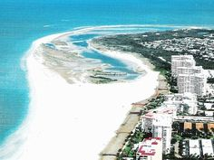 White sand and Gulf of Mexico at Tigertail Beach, Marco Island, Florida.