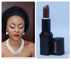 #Bolwin Bar Crawl Lipstick & Bolwin Cabernet Lip liner on this lady. Love this look Makeup by @molurlahsmakeover  We are now taking orders for #BolwinCosmetics Ask us for our #wholesale price list or call us on 08033818007 for details.  #lippies #lipstick We ship all over Nigeria