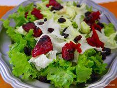 Salada de folhas com tomate seco