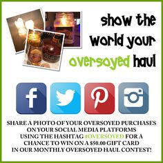 #OverSoyed #OverSoyedHaul #ShowUsYourHaul #Haul #Win #Contest #GiftCard #Shopping #Shop #AllNatural #Natural #Organic #Candles #HomeFragrance #BathandBody #HandmadeSoap #Soaps #Beauty #SkinCare #Relaxation #SpaDay #BeautyCare #BeautyProducts #SkincareProducts #Essentials #HandmadeWithLove #BeautyAddict #NaturalBeauty #SupportHandmade #ShopHandmade