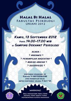 Halal Bi Halal Psikologi Unjani 2012