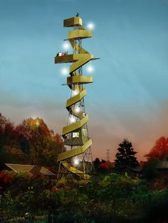 Anders Berensson Architects proposes a spiral iconic tower for the national park…