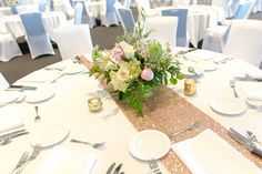 table set for wedding reception Floral Centerpieces, Wedding Reception, Table Settings, Table Decorations, Weddings, Home Decor, Marriage Reception, Table Top Decorations, Mariage