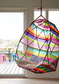 "i WANT this chair soooo bad, so I decided to look for it online. ""tropicalia cocoon hanging chair by patricia urquiola for moroso"" My New Room, My Room, Dorm Room, Spare Room, Hanging Beds, Hanging Chairs, Hanging Hammock, Hanging Basket, Kids Hanging Chair"
