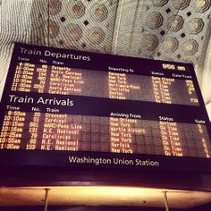 Hop on the train and never look back, wave off the things you never needed to pack. Fill up your life with memories so sweet, feel far off roads under the souls of your feet.  (at Union Station)