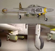Republic F-84 Thunderjet Fighter-Bomber Free Aircraft Paper Model Download