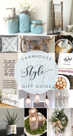 Farmhouse Style Lovers Gift Guide - OMG it's hard to not buy everything on here!