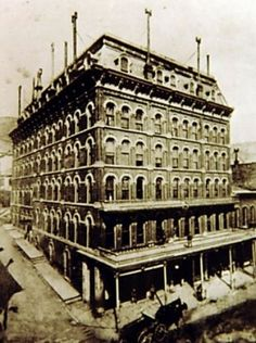 The International Hotel in Virginia City circa late 1800's