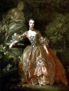 Madame de Pompadour fue una famosa cortesana francesa, la amante más célebre del rey Luis XV,- Obra de François_Boucher_