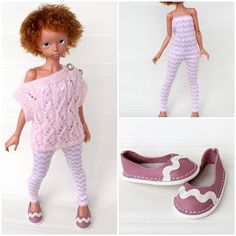 """NEW! Outfit """"Pink&White zigzag"""" with shoes, for dolls format MSD (MiniFee) by TashkasBears on Etsy"""