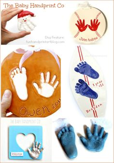 Clay Handprint Keepsakes - The Baby Handprint Co