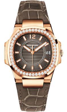 7010R-010 Patek Philippe Nautilus Womens 18K Rose Gold Watch | WatchesOnNet.com