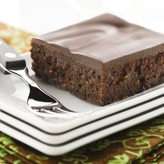 Flourless Chocolate Brownies (Intermediate; 16 brownies) #chocolate #brownies #dessert