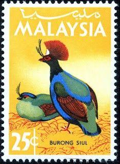 Malaysia. Tema: Aves. Año: 1965.