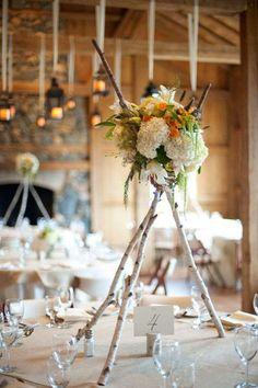 mariage rustique et déco de centre de table floral