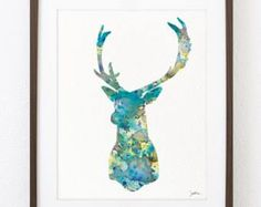 Image result for decorative deer antler paintings