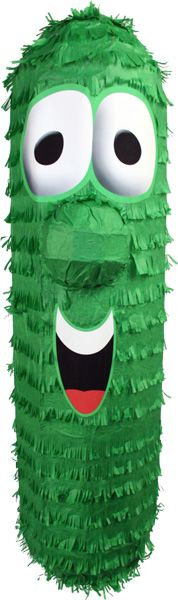 Veggie Tales Larry the Cucumber Pinata great for your children's birthday Veggie Tales Birthday, Veggie Tales Party, Veggietales, Trunk Or Treat, How Big Is Baby, Baby Rattle, Pirate Party, Halloween Crafts, Party Time