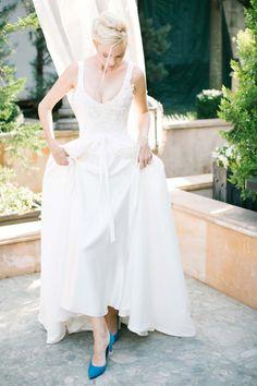 #Brautschuhe in #Blau (Gemäß dem Brauch: Etwas Blaues...)